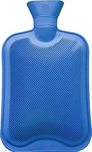Kitchen Hub Rubber Hot Water Bag Bottle Pain Relief Bed Hand Warmer Hot Water Bag 2 L Blue Color
